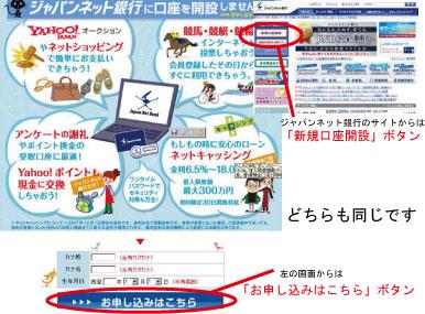 ジャパンネット銀行申込手順1