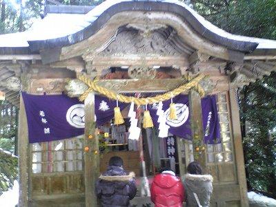 金持神社の神殿
